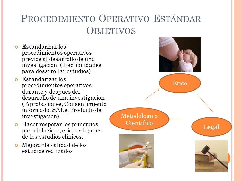 Procedimiento Operativo Estándar Objetivos