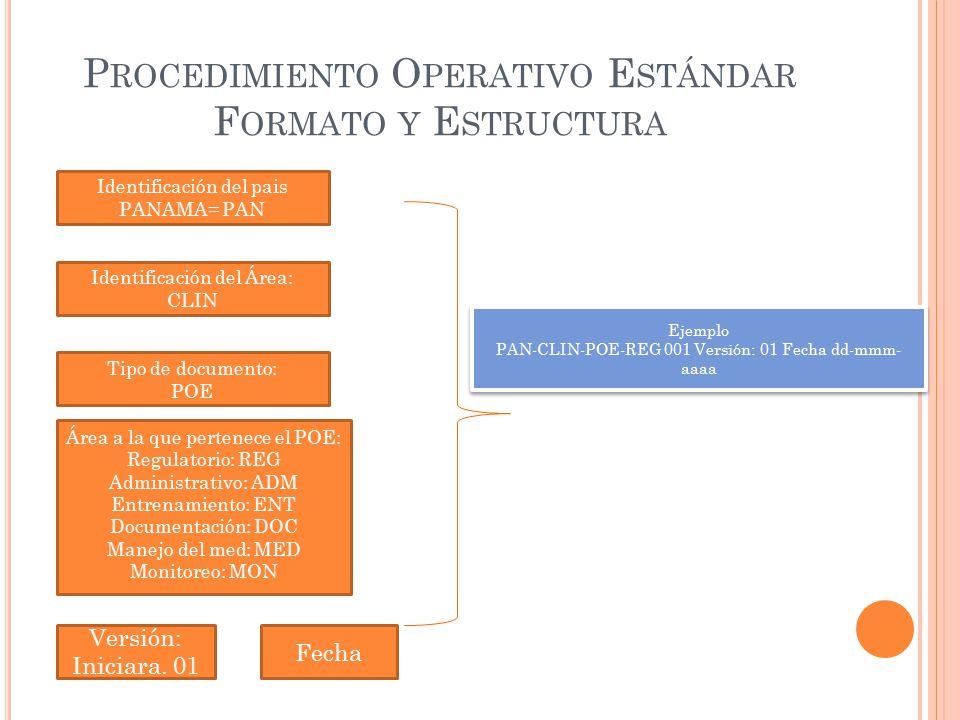 Procedimiento Operativo Estándar Formato y Estructura