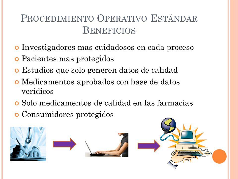 Procedimiento Operativo Estándar Beneficios