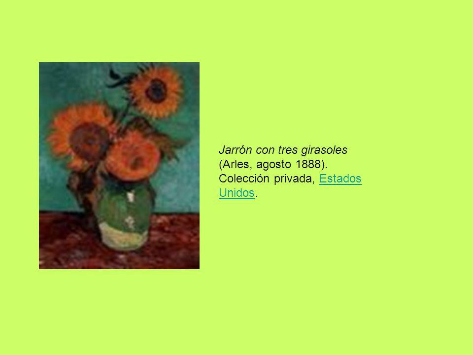 Jarrón con tres girasoles (Arles, agosto 1888)
