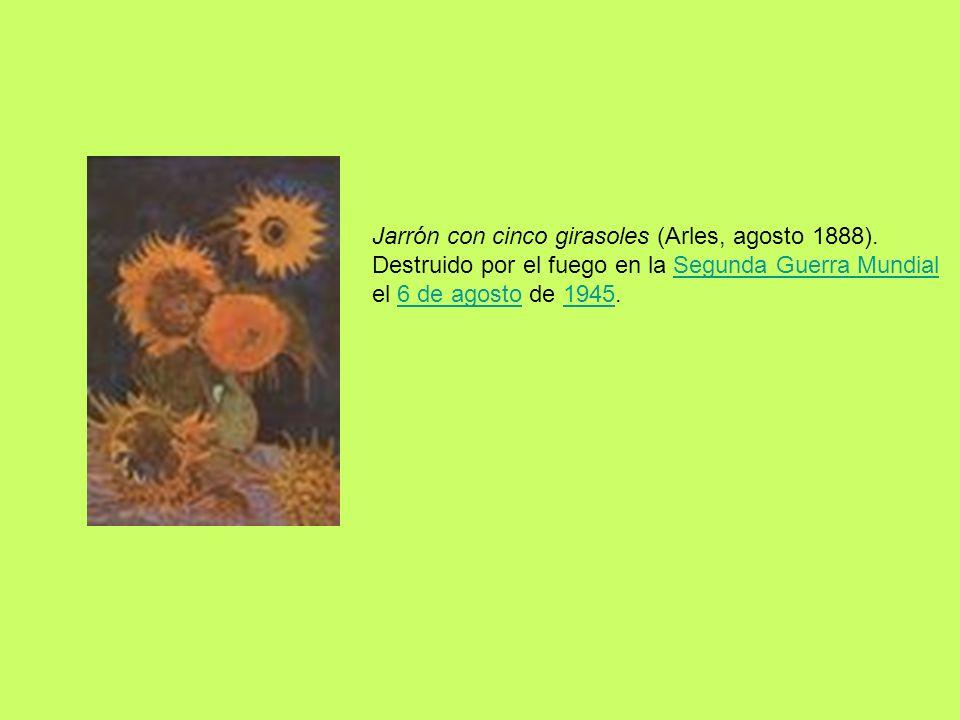 Jarrón con cinco girasoles (Arles, agosto 1888)