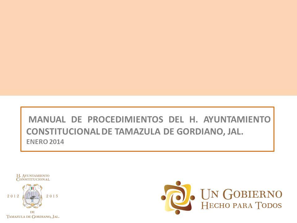 MANUAL DE PROCEDIMIENTOS DEL H
