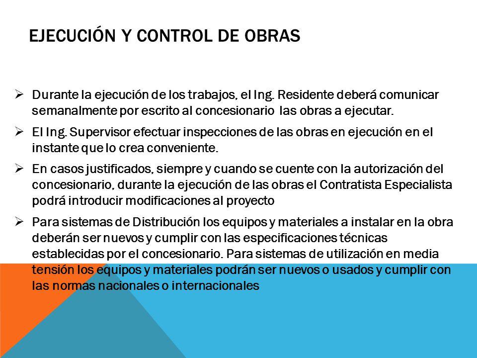Ejecución y control de obras
