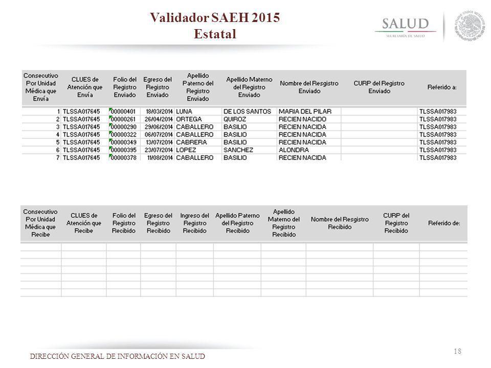 Validador SAEH 2015 Estatal