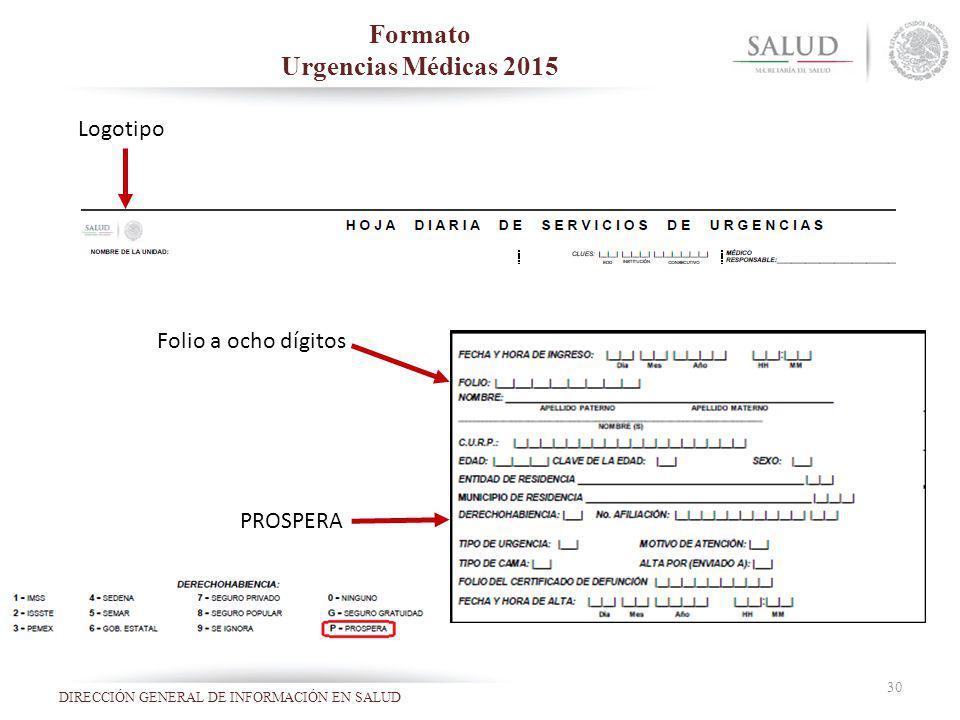 Formato Urgencias Médicas 2015