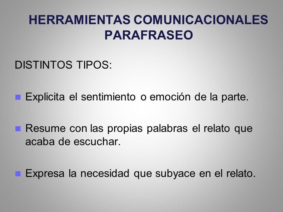 HERRAMIENTAS COMUNICACIONALES PARAFRASEO