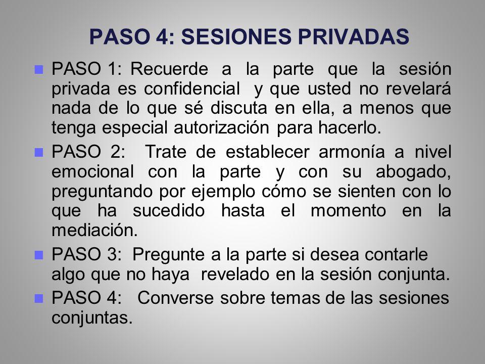 PASO 4: SESIONES PRIVADAS