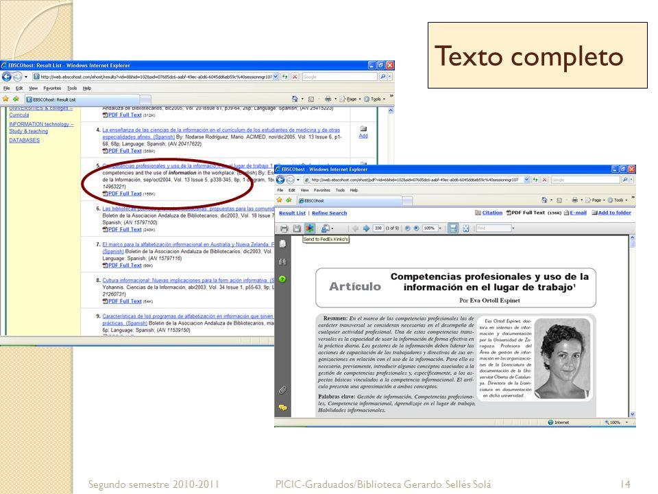 Texto completo Segundo semestre 2010-2011
