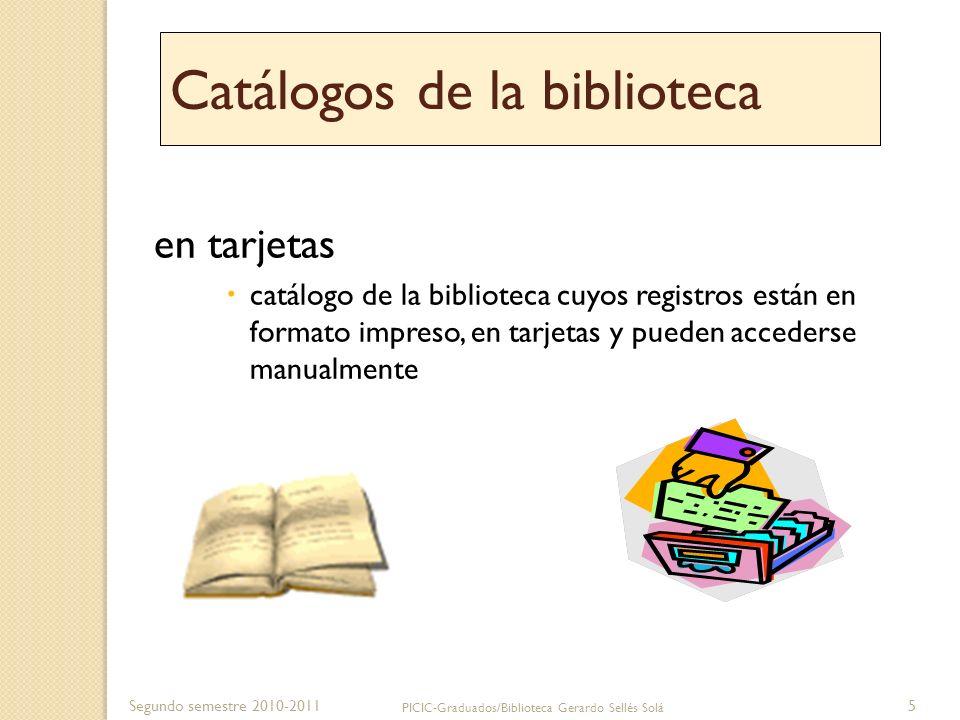 Catálogos de la biblioteca