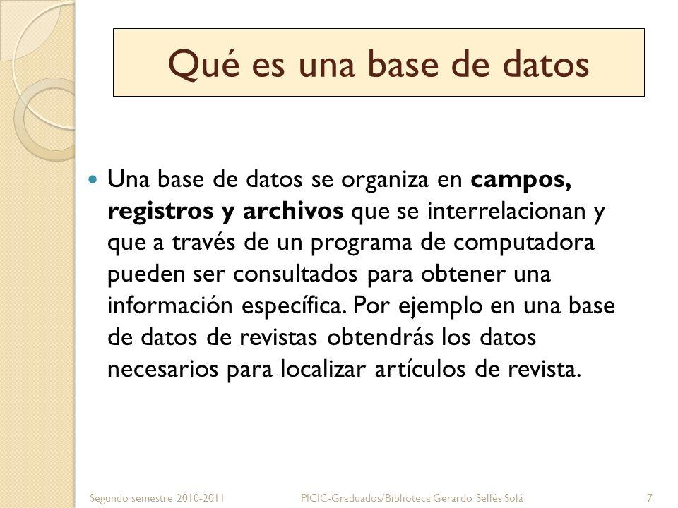 Qué es una base de datos