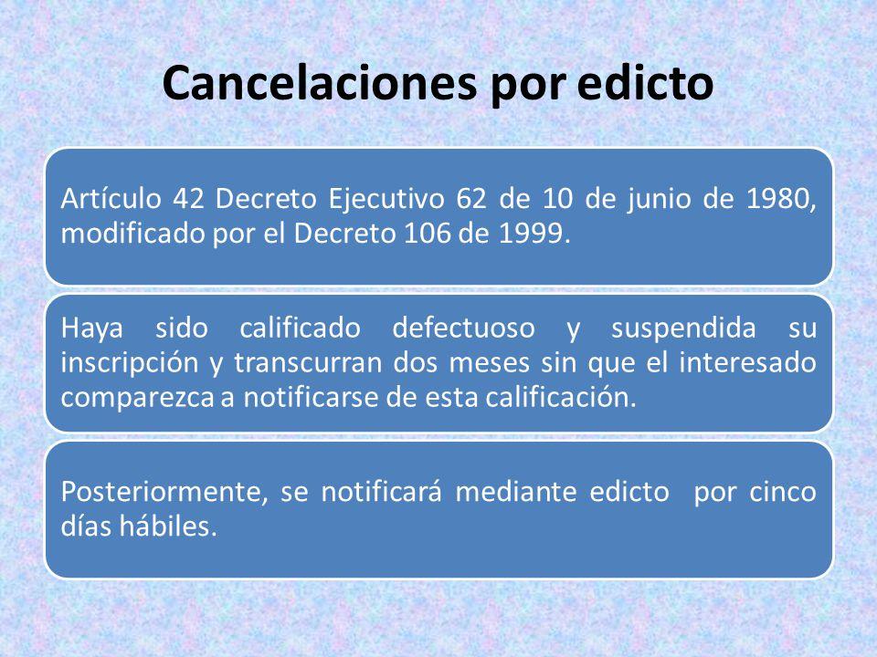 Cancelaciones por edicto
