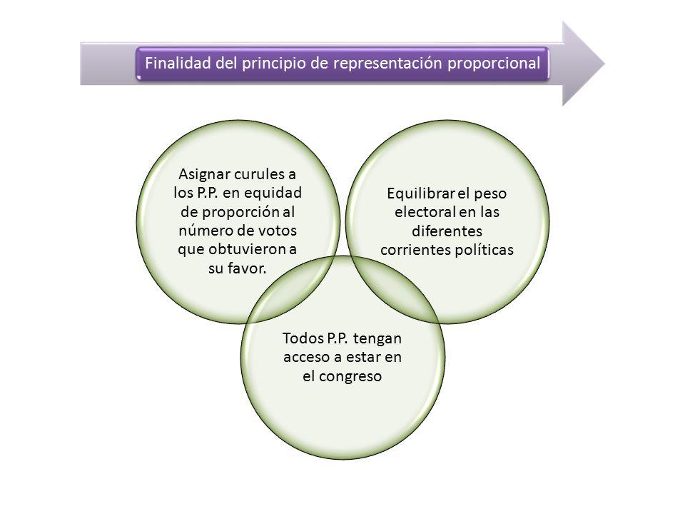 Finalidad del principio de representación proporcional