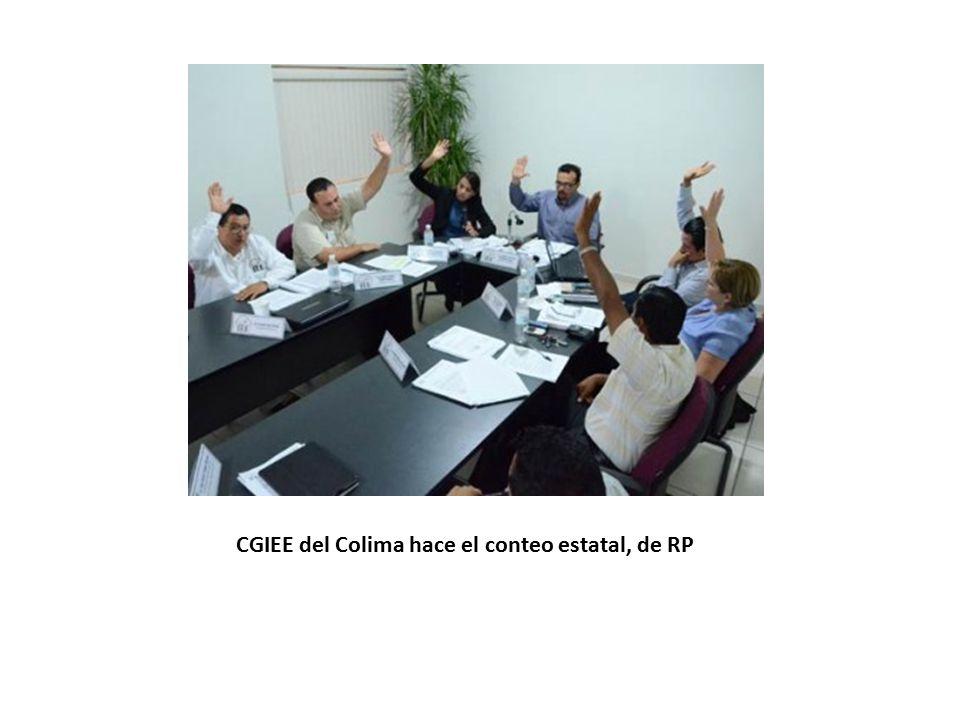 CGIEE del Colima hace el conteo estatal, de RP