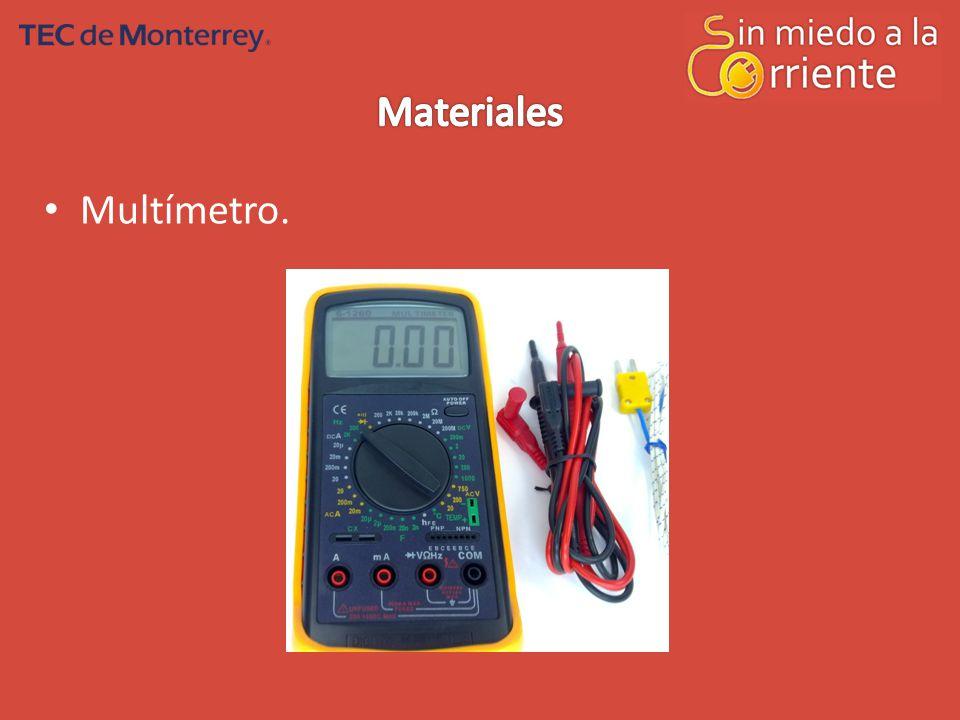 Materiales Multímetro.