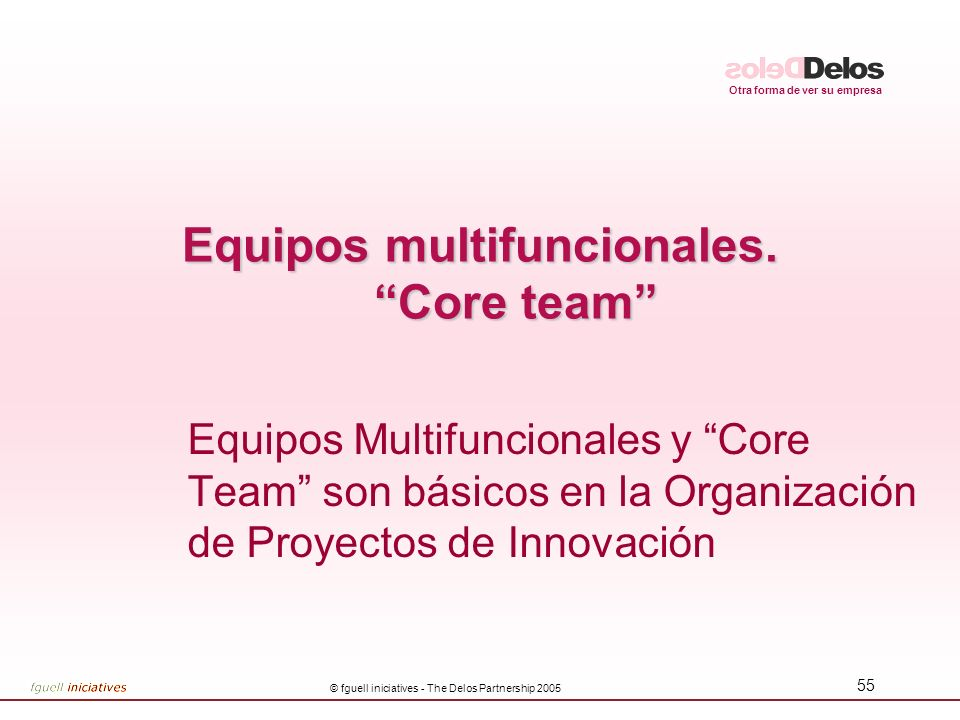 Equipos multifuncionales. Core team