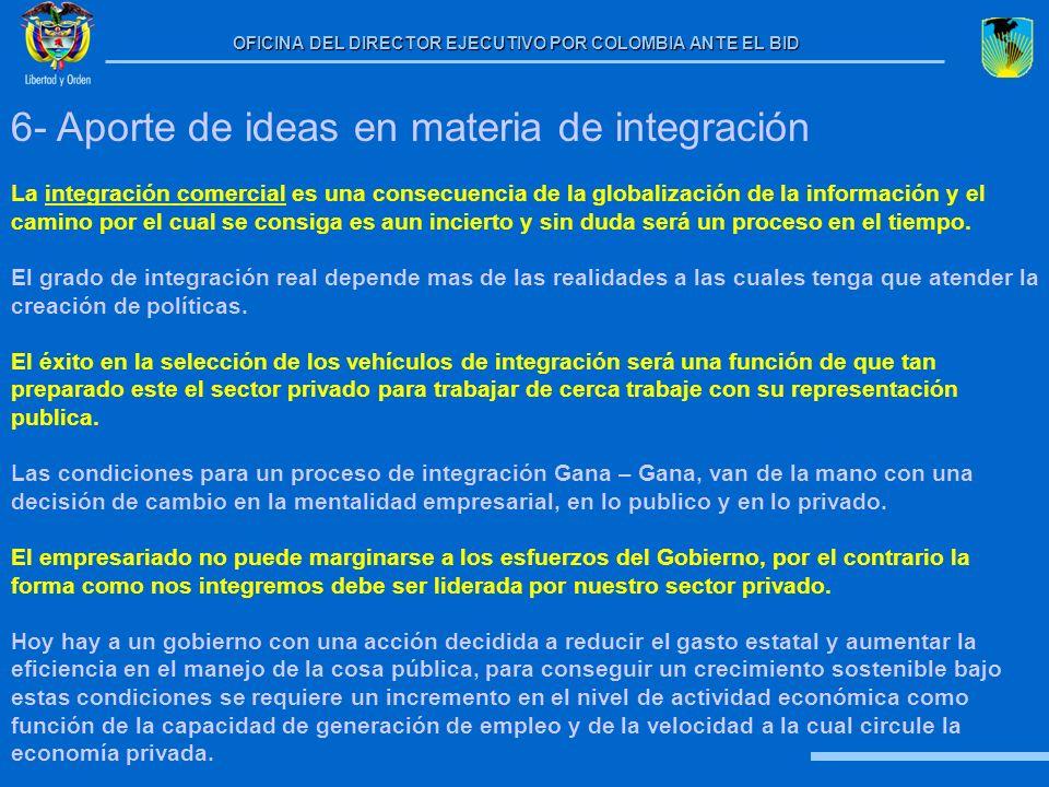 6- Aporte de ideas en materia de integración