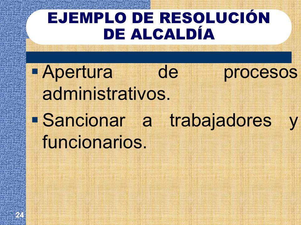 EJEMPLO DE RESOLUCIÓN DE ALCALDÍA