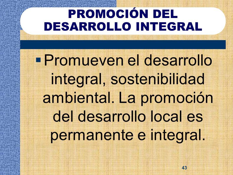 PROMOCIÓN DEL DESARROLLO INTEGRAL