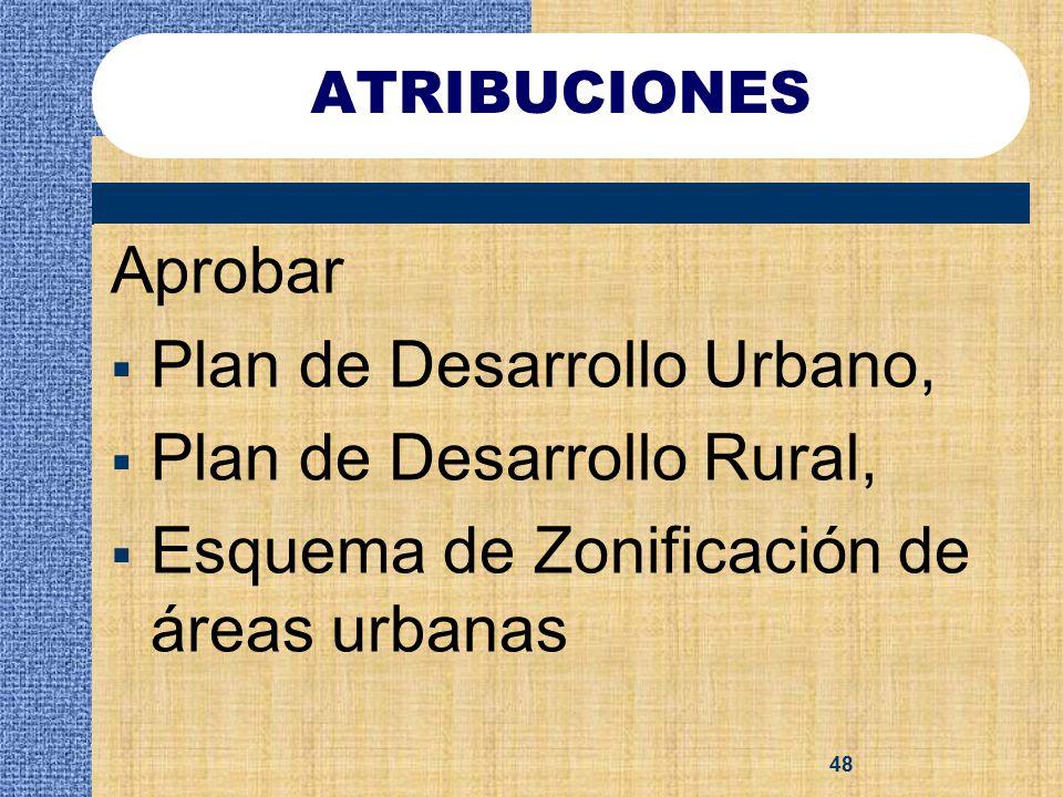 Plan de Desarrollo Urbano, Plan de Desarrollo Rural,