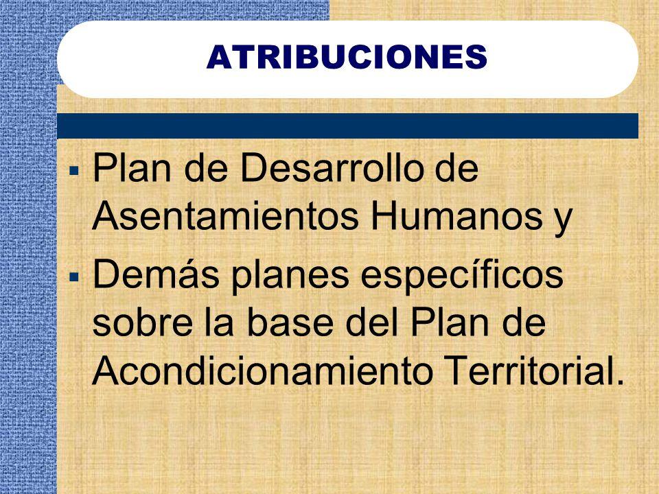 Plan de Desarrollo de Asentamientos Humanos y