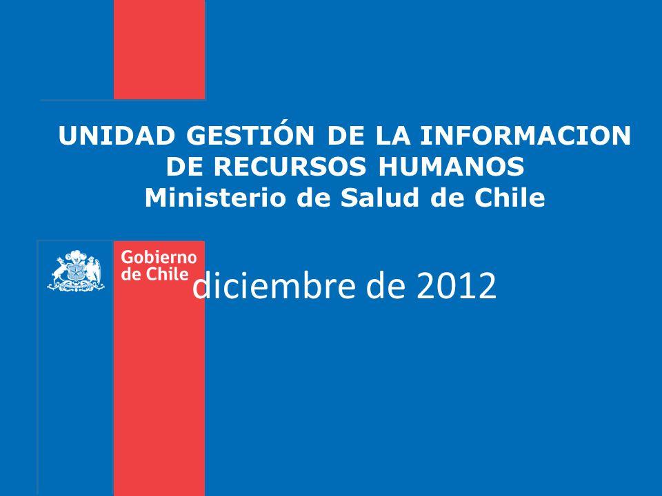 UNIDAD GESTIÓN DE LA INFORMACION DE RECURSOS HUMANOS Ministerio de Salud de Chile diciembre de 2012