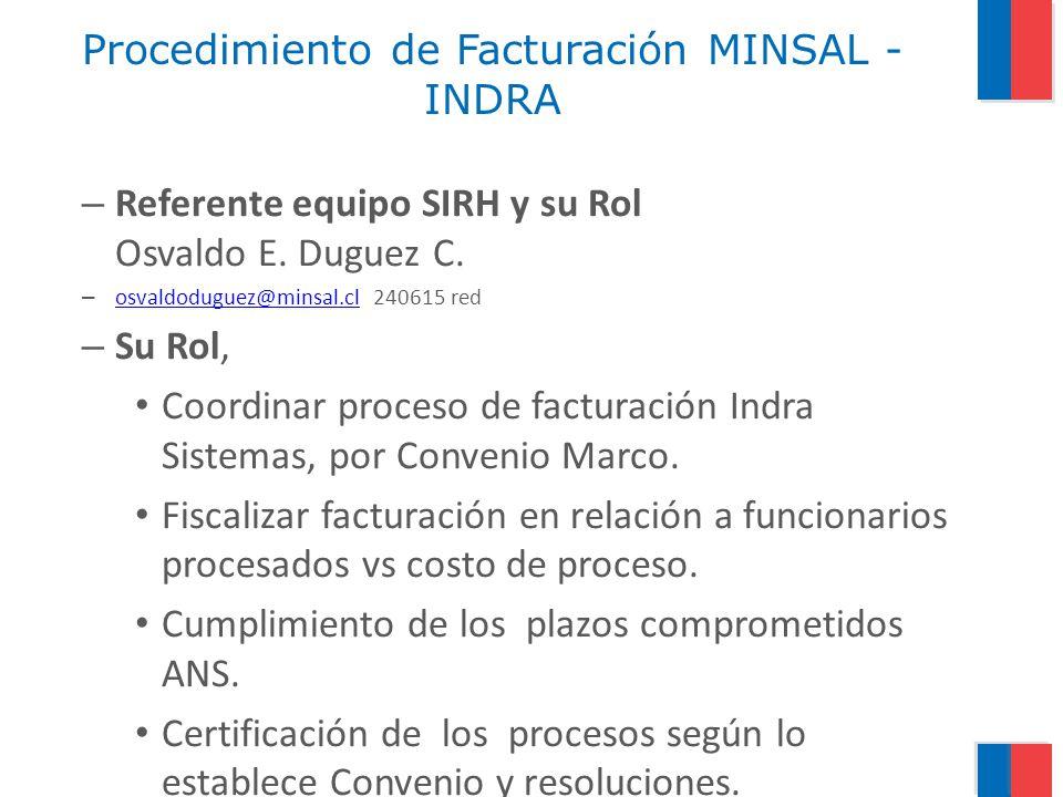 Procedimiento de Facturación MINSAL - INDRA