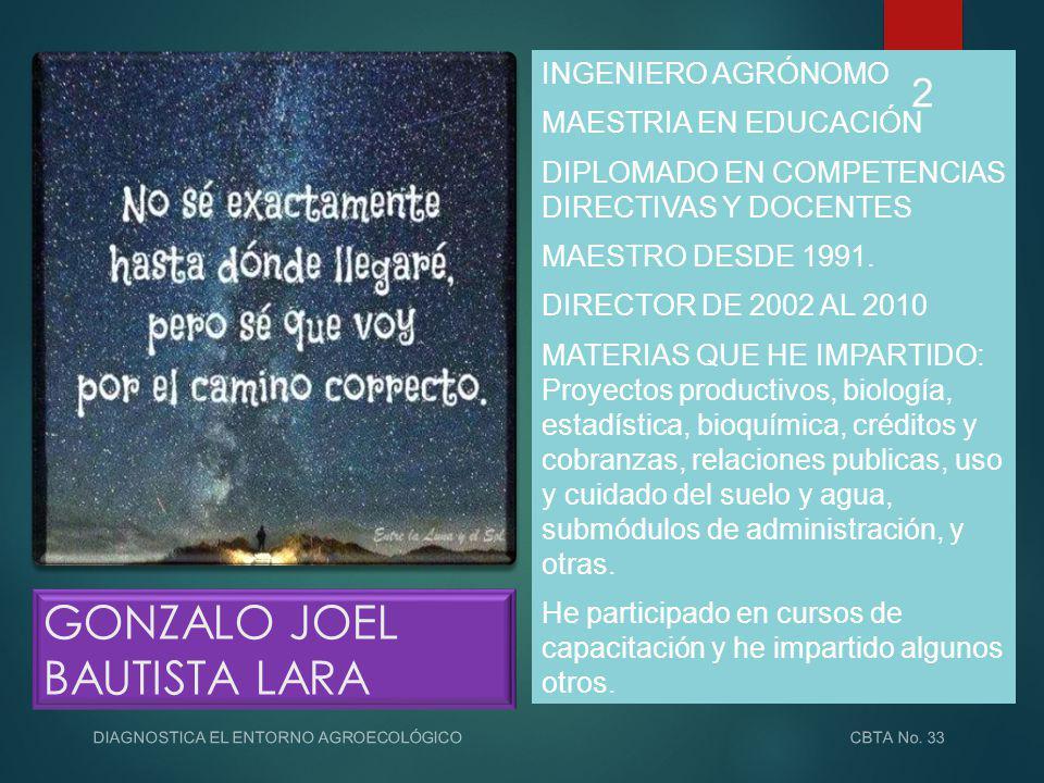 GONZALO JOEL BAUTISTA LARA