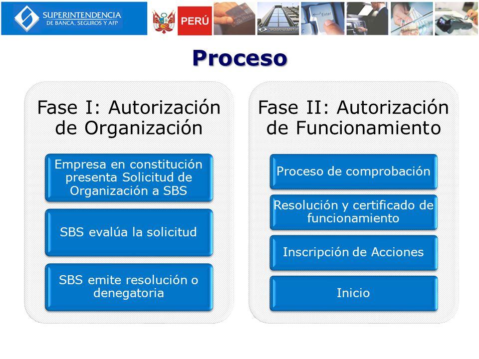 Proceso Fase I: Autorización de Organización