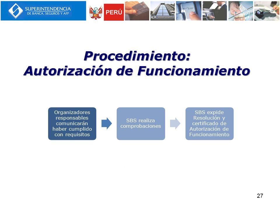 Procedimiento: Autorización de Funcionamiento