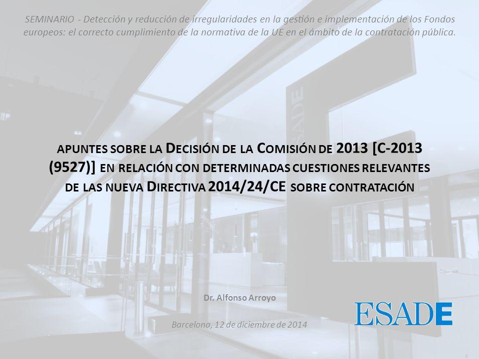 Dr. Alfonso Arroyo Barcelona, 12 de diciembre de 2014