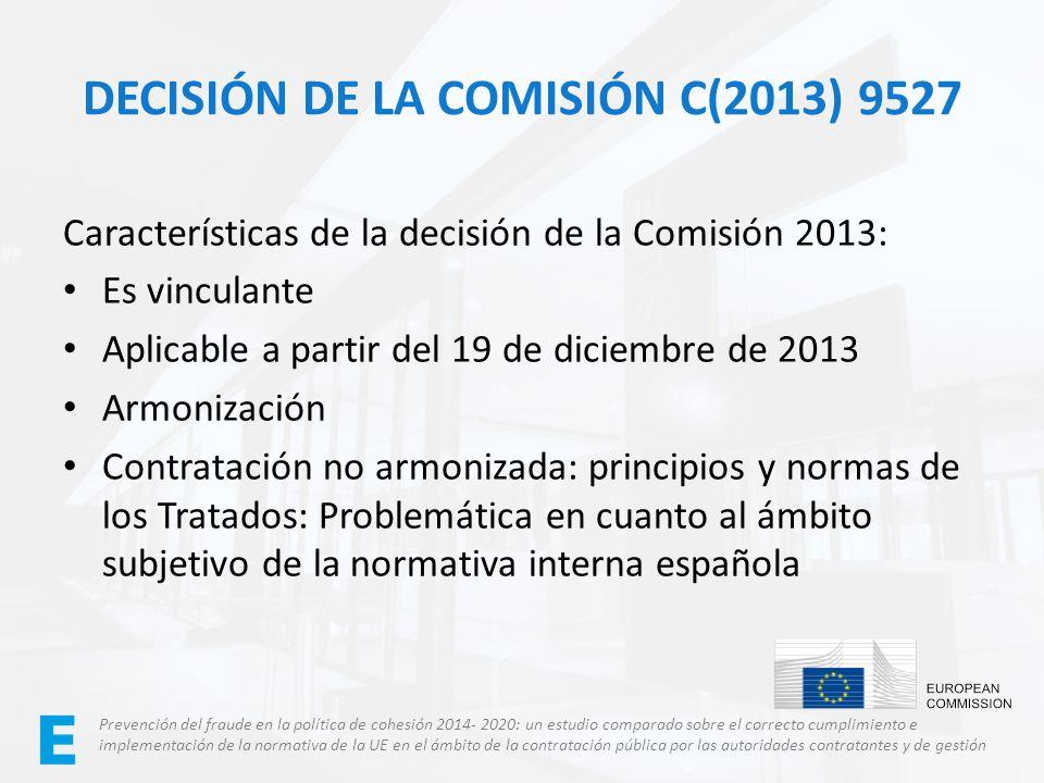 Decisión de la Comisión C(2013) 9527