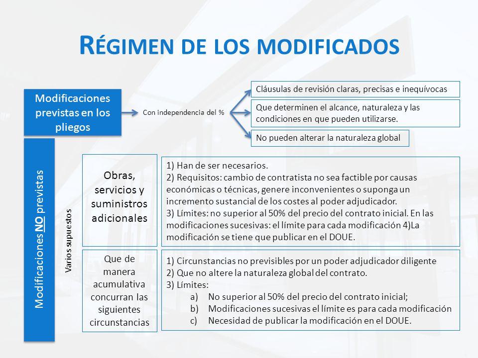 Régimen de los modificados