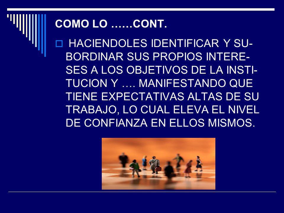 COMO LO ……CONT.
