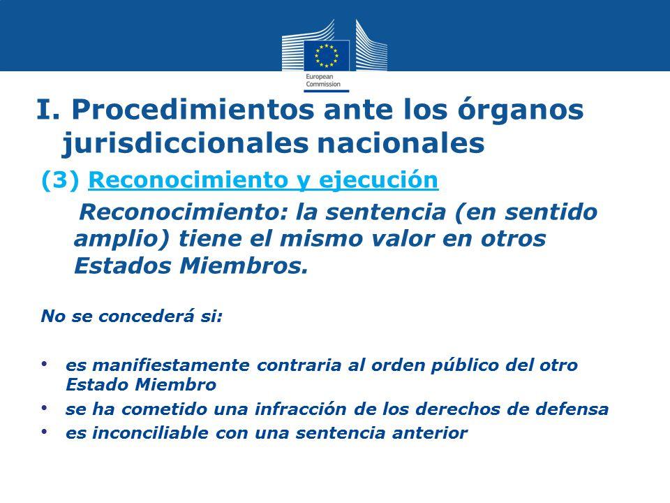 I. Procedimientos ante los órganos jurisdiccionales nacionales