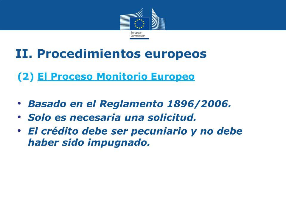II. Procedimientos europeos