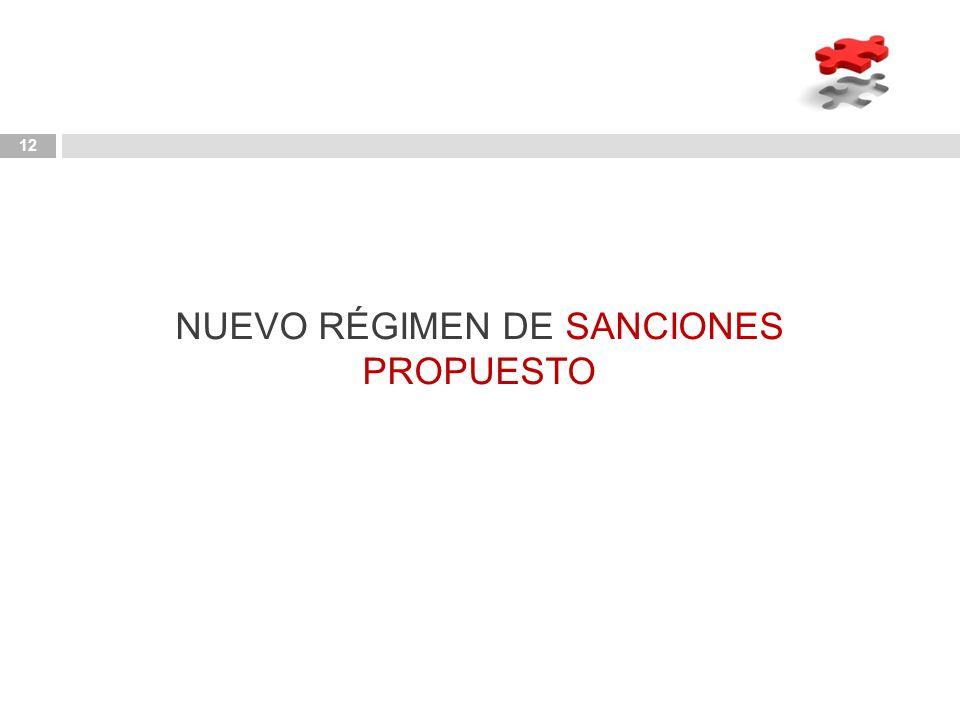 NUEVO RÉGIMEN DE SANCIONES PROPUESTO
