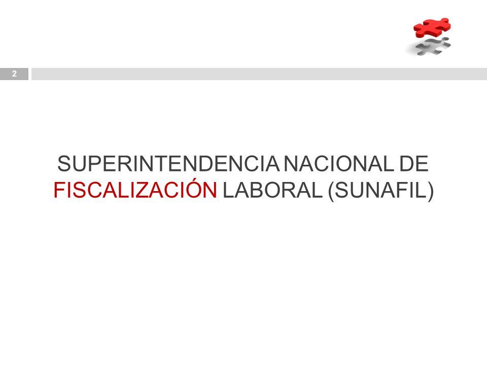 SUPERINTENDENCIA NACIONAL DE FISCALIZACIÓN LABORAL (SUNAFIL)