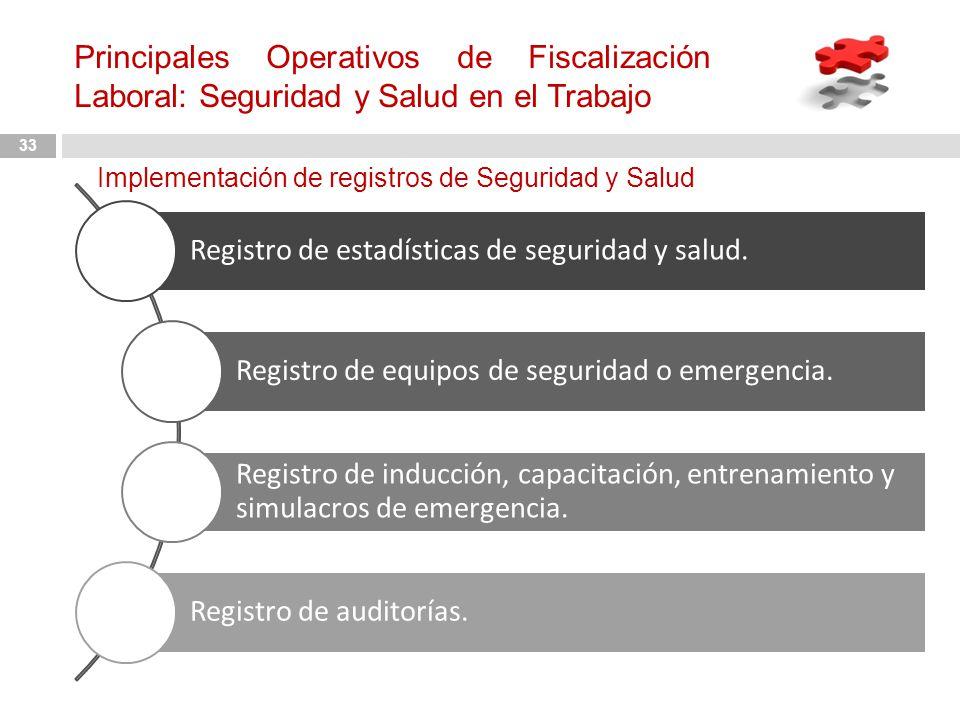 Principales Operativos de Fiscalización Laboral: Seguridad y Salud en el Trabajo
