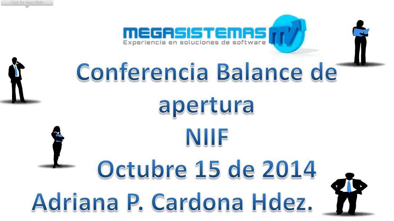 Conferencia Balance de apertura NIIF Octubre 15 de 2014