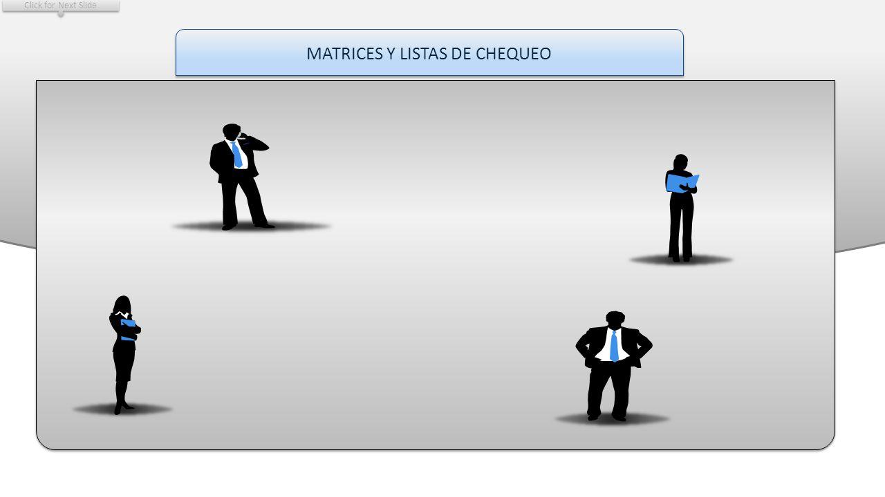 MATRICES Y LISTAS DE CHEQUEO