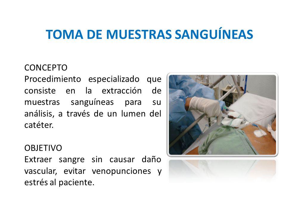 TOMA DE MUESTRAS SANGUÍNEAS