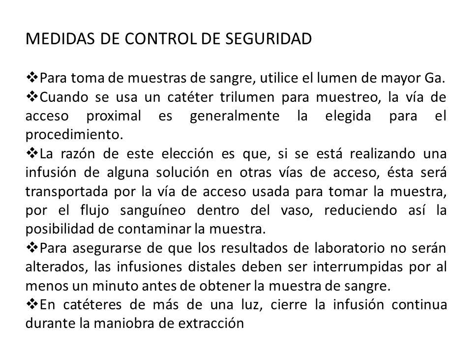 MEDIDAS DE CONTROL DE SEGURIDAD
