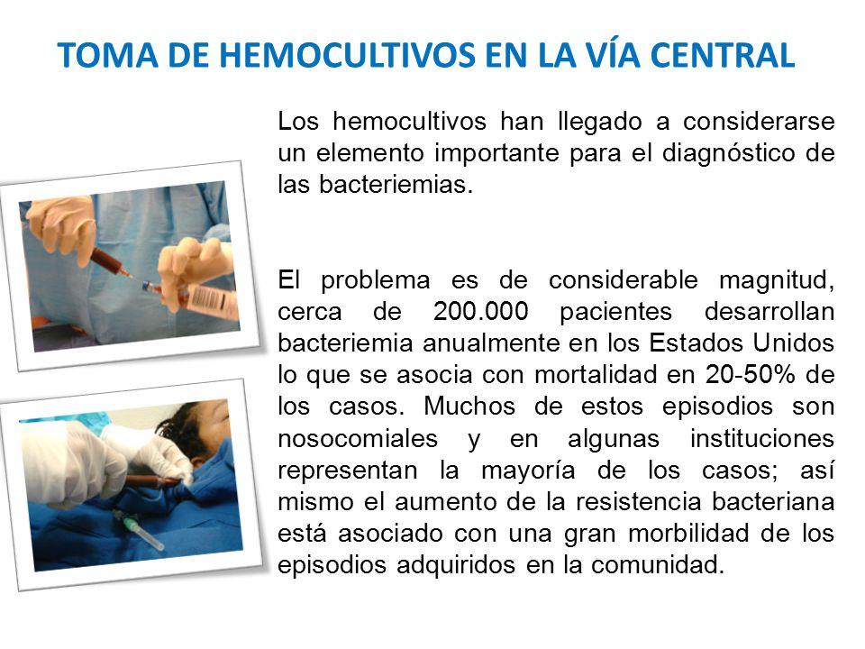 TOMA DE HEMOCULTIVOS EN LA VÍA CENTRAL