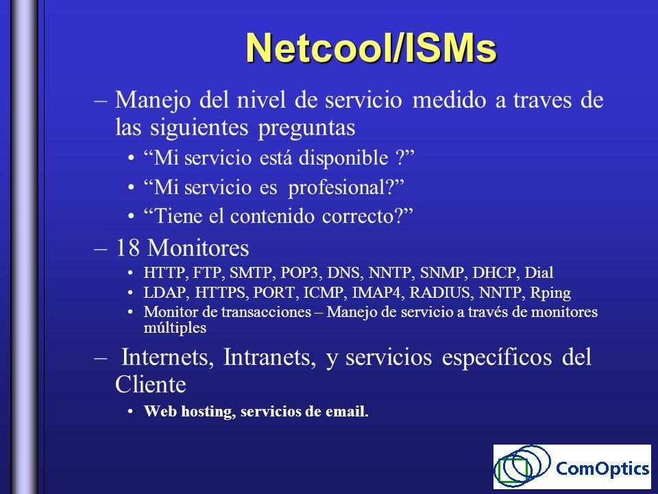 Netcool/ISMs Manejo del nivel de servicio medido a traves de las siguientes preguntas. Mi servicio está disponible