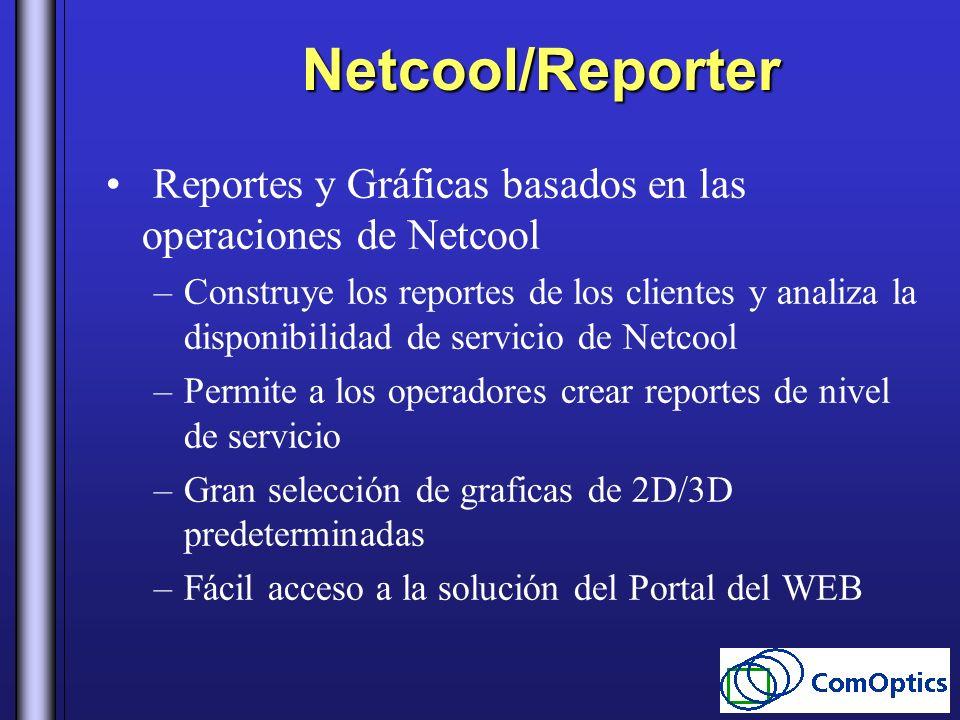 Netcool/Reporter Reportes y Gráficas basados en las operaciones de Netcool.