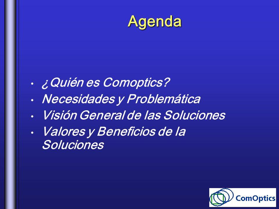 Agenda ¿Quién es Comoptics Necesidades y Problemática
