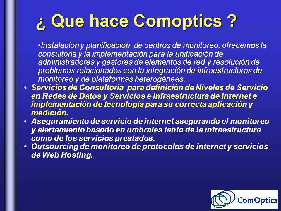 ¿ Que hace Comoptics
