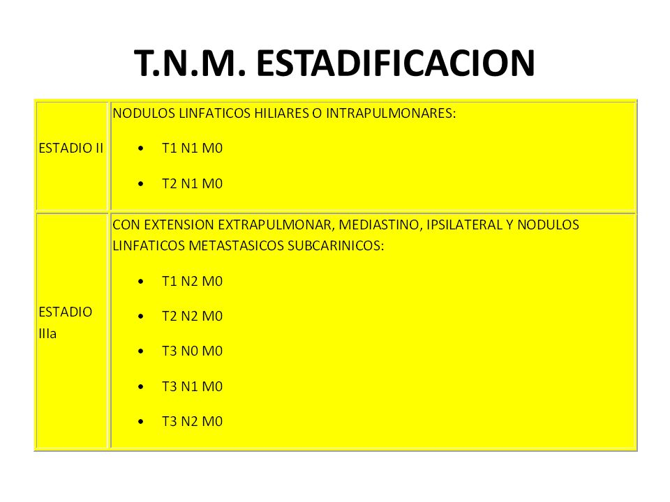 T.N.M. ESTADIFICACION
