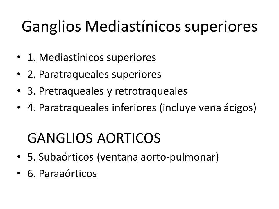 Ganglios Mediastínicos superiores