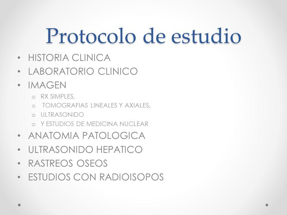 Protocolo de estudio HISTORIA CLINICA LABORATORIO CLINICO IMAGEN